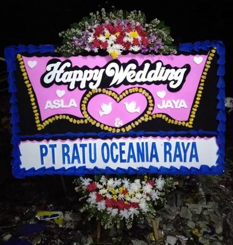bunga papan pernikahan wedding5